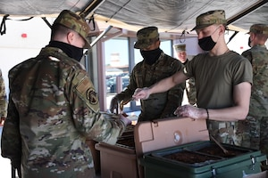442 FSS Airmen build SPEK Kitchen.