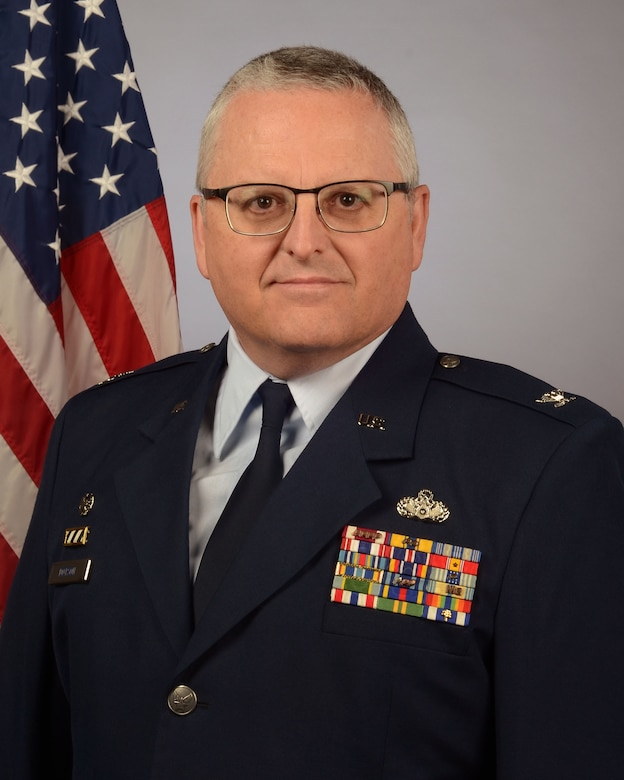 Portrait of U.S. Air Force Col. Timothy Dotson, commander of the 169th Mission Support Group at McEntire Joint National Guard Base, South Carolina Air National Guard, Nov. 13, 2020. (U.S. Air National Guard photo by Senior Master Sgt. Edward Snyder)