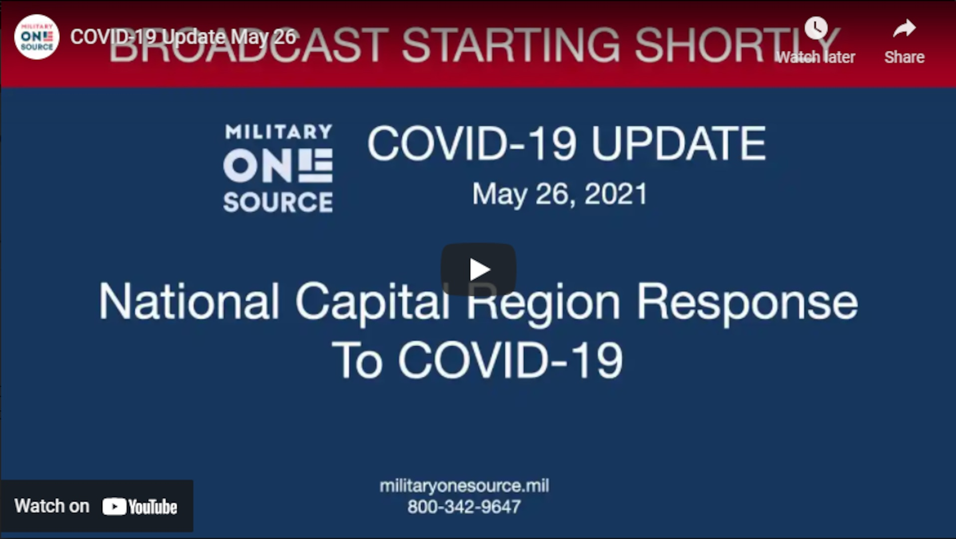 Join us for a discussion with Rear Admiral Anne Swap, who is the National Capital Region market director at the Defense Health Agency. We'll take a closer look at the National Capital Region's efforts around COVID-19 vaccine distribution and the role the team plays in the fight against the pandemic.