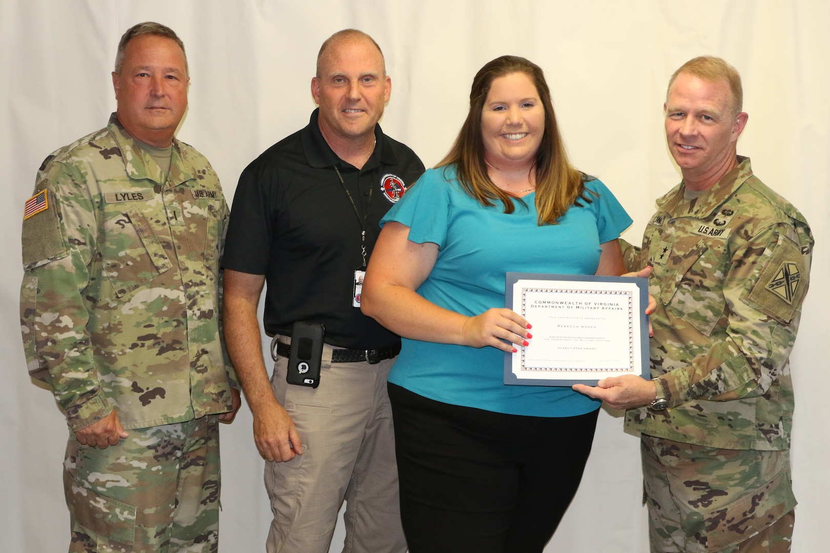 DMA employees recognized for outstanding job performance