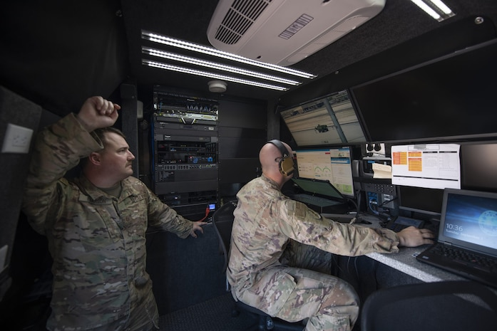 Communication from a Nomad GCS Tactical Control Vehicle