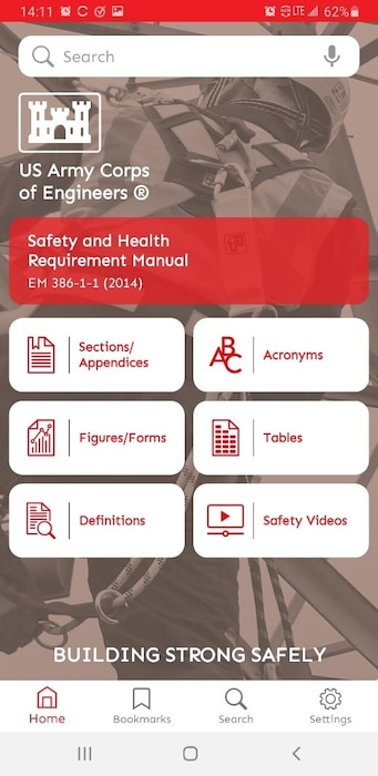 Searching the USACE safety manual, easy as A-B-C