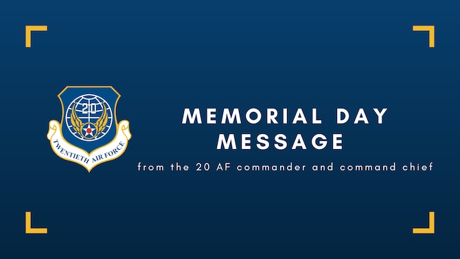 Memorial Day message graphic