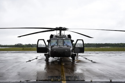 Virginia National Guard aviators participate in an air operations exercise managed by the Virginia Department of Emergency Management May 10, 2021, at the Army Aviation Support Facility in Sandston, Virginia. The exercise aimed to test a new smart phone-enabled mission-management platform designed for use during a large-scale emergency response effort, such as a hurricane. With the potential for air support from multiple agencies, all on different communications platforms, the new program aims to simplify mission assignment and reporting efforts. In addition to VNG and VDEM personnel, the training included members of the U.S. Coast Guard, the Virginia State Police, the Federal Aviation Administration, the North Carolina National Guard and the North Carolina Department of Public Safety. The training also allowed for a test of loading and using communications by air crews and helicopter crews from VNG, VSP and USCG tested the new platform during a simulated response exercise. (U.S. Army National Guard photo by Sgt. 1st Class Terra C. Gatti)