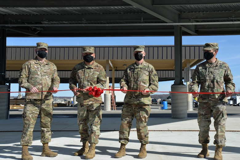 Col. Damon Delarosa, U.S. Army Corps of Engineers – Alaska District commander, visits participated in a ribbon-cutting ceremony for a new petroleum, oil and lubricants (POL) operations facility on Joint Base Elmendorf-Richardson.