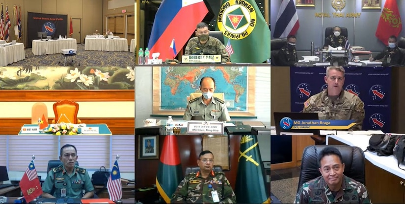 The virtual Indo-Pacific Landpower Conference May 18, 2021.
