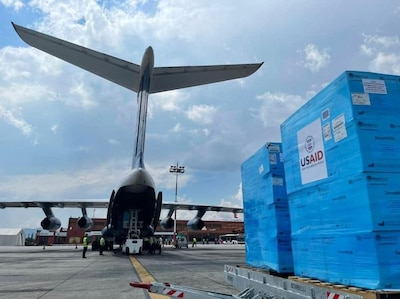 DLA provides critical supplies to USAID for Nepal pandemic response