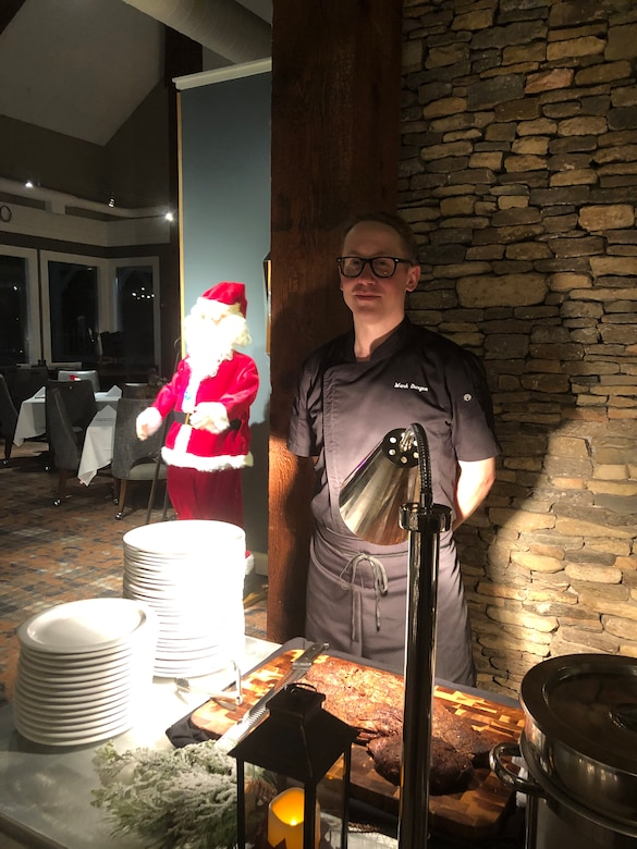 Photo of airman posing as a chef before joining