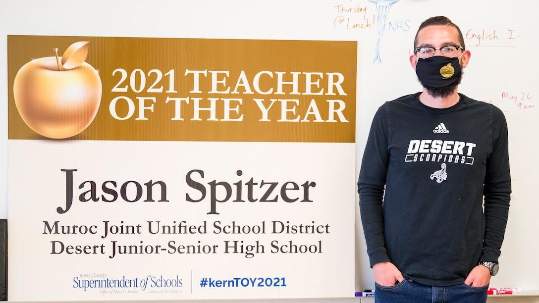 Desert Junior-Senior High School teacher, Jason Spitzer, has been named the 2021 Kern County Teacher of the Year. (Air Force photo by Giancarlo Casem)