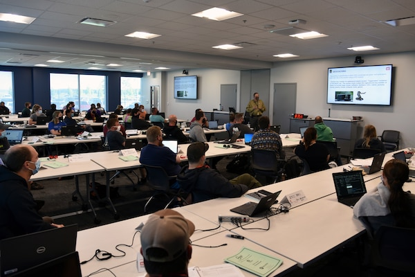 A class of 41 park rangers with the U.S. Army Corps of Engineers attend the first in-person training offered at the new USACE Learning Center. The center, which opened its doors for mission-critical courses in May, is located in Building 100 Secured Gateway.