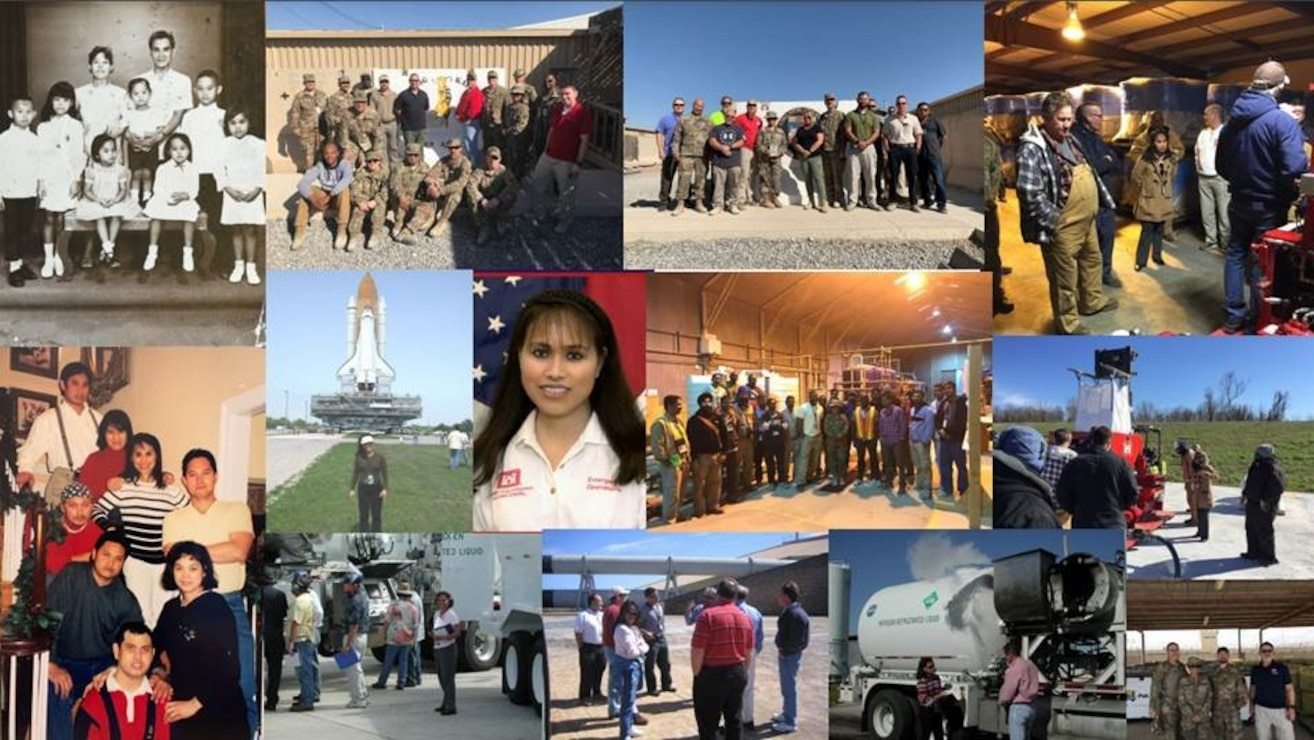 IN THE PHOTOS, a collage representing Divina LeClair's life. She is Filipino and a U.S. Army Corps of Engineers employee. She currently works for the Memphis District as the district environmental compliance coordinator and has been with the district since 2016. She is a proud Filipino, with Ilonggo being her native language. Ilonggo is one of 99 dialects in the Philippines. She is proud to be both American and Filipino, and says she loves America, its culture, and the people. She also says Filipinos are resilient, respectful, and helpful people, unlike what many may think of them, which is that they are oftentimes late, spend a lot of money, and are poor. The Memphis District is grateful for Divina and thanks her for her service, as well as for sharing her culture with the district, not just today or this Asian American Island Pacific Heritage month, but every day and every month. You are a true gem, and we treasure you daily. Thank you, ma'am!