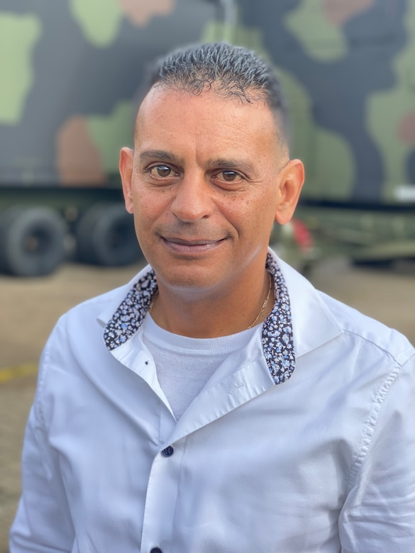 Luis Colon is the supply program chief for the Dülmen Army Prepositioned Stock-2 worksite, Army Field Support Battalion Mannheim, 405th Army Field Support Brigade. He said his job is to support our warfighters with serviceable, operational equipment and supplies at a moment's notice.