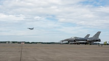 Jets on the flight line prior to take off.