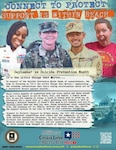 """CONNECT TO PROTECT is a strategy designed to encourage Soldiers, their Families and Department of the Army civilians to take action to make connections with and reach out to the people around them and the resources in our community. In keeping with the theme of connectedness, the Army is focusing on """"It's the Little Things that Matter"""" – """"the little things"""" include the daily interactions with our friends, Family, and peers. Those little things build strong relationships and act as protective factors. (Courtesy asset from Army Resilience Directorate) (Ronald Wolf)"""