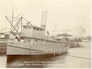 "U.S. ""Revenue Cutter 'HUDSON.' Navy Yard, Norfolk, VA, April 21st, 1898."""