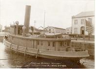 "U.S. ""Revenue Cutter 'HUDSON.' Navy Yard, Norfolk, VA, April 21st 1898.""  Outfitted for wartime."