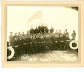 """Officers and crew of the U.S.S. SENECA, C.G.; Acting Commander Lieut. Comm. P. F. Roach, New York, Jan. 19, 1924."""