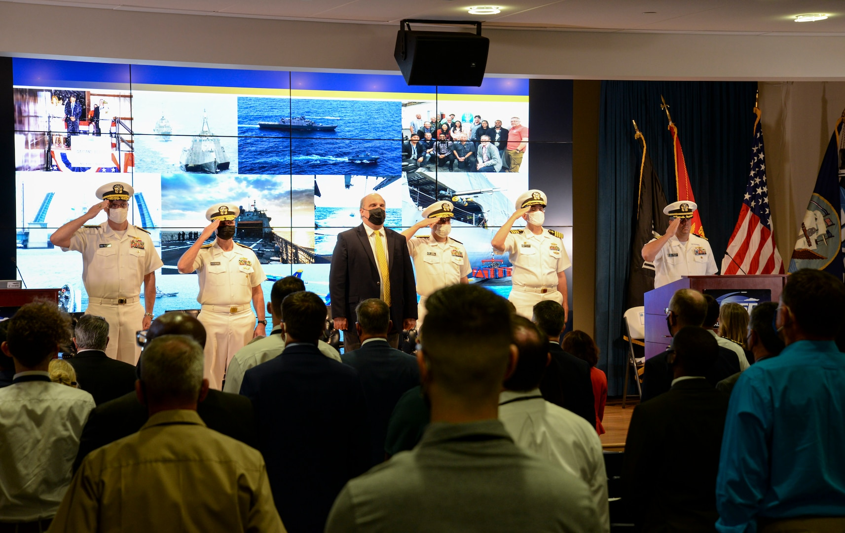 The LCS Fleet Introduction and Sustainment Program Office (PMS 505) realigned to Naval Sea System Command's Surface Ship Maintenance, Modernization and Sustainment (NAVSEA 21) directorate during a small ceremony, Oct. 1.