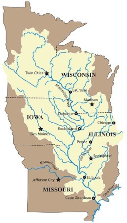 Upper Mississippi River Basin Map