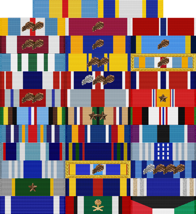 Awards Ribbon Rack of VCSAF Gen. David W. Allvin