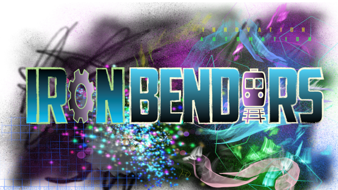 """A colorful graphic featuring the text """"Ironbenders""""."""