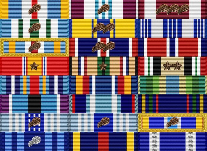Award ribbon rack of BG Patrick S. Ryder