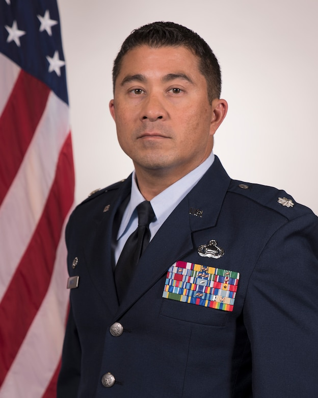 Official Air Force photo of Lt. Col Martin in dress uniform.