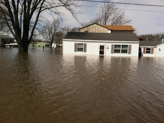 Flooded Residence in Carbon Cliff, Illinois