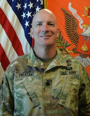 LTC David Pheasant, acting commander, U.S. Army Satellite Operations Brigade, OCP 8x10