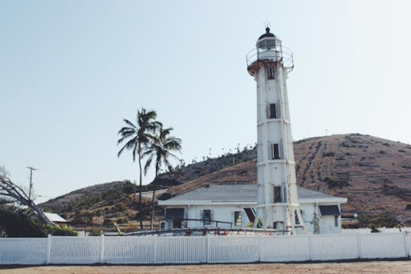 A 2016 color photo of Guantanamo Lighthouse showing corrosion and deterioration of the upper iron works. (Photo courtesy Alexis K. Thomas)