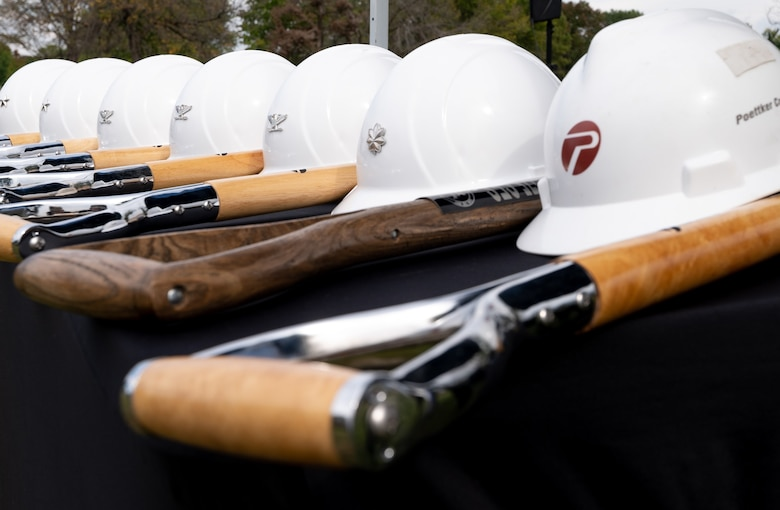shovels and hard hats before ground breaking event