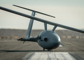 The Vanilla unmanned aircraft system completed a record-setting flight of 8 days, 50 minutes, and 47 seconds, and 12,200 miles of continuous flight, at Edwards Air Force Base, California, Oct 2. The aircraft broke the world record for unrefueled, internal combustion endurance of an unmanned aircraft and was launched from Rogers Dry Lakebed on Friday, Sept. 24. (Air Force photo by Bryce Bennett)