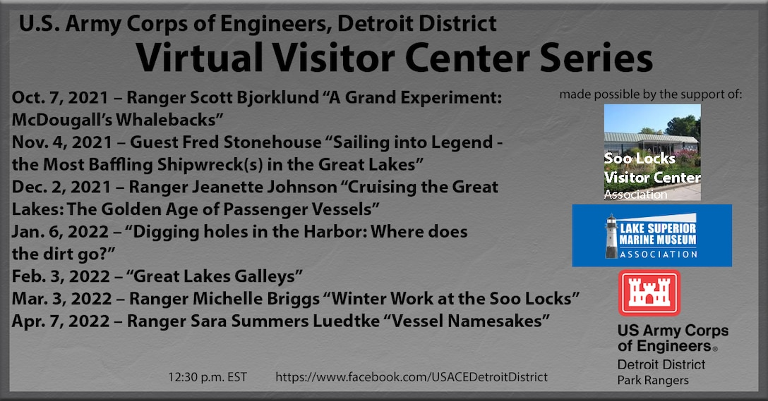 Detroit District's Virtual Visitor Center series from Oct. 2021 to April 2022.