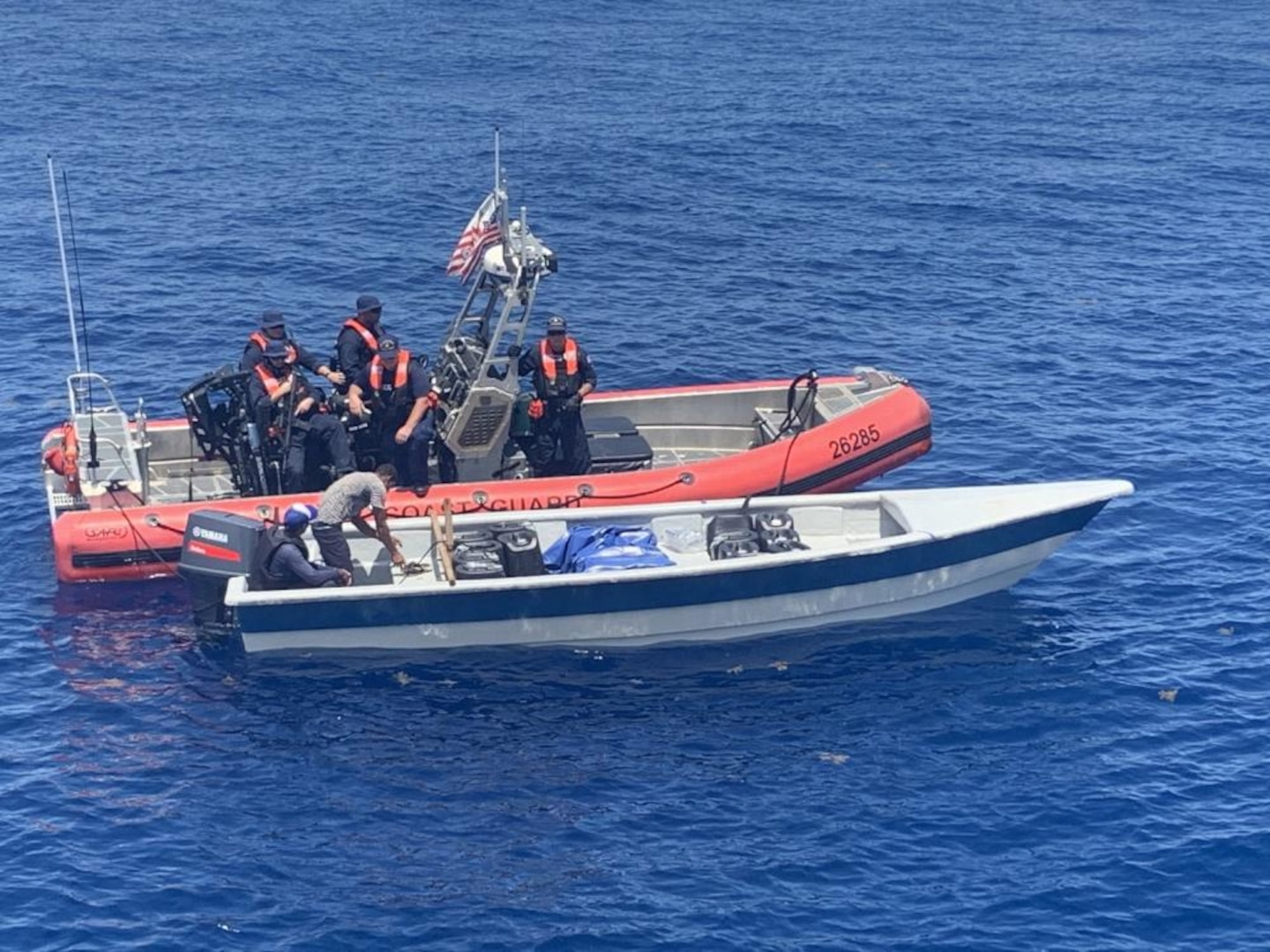 The crew of the U.S. Coast Guard Cutter Oliver Berry (WPC 1124) travels to their new Homeport in Honolulu, Sept. 22, 2017. The Oliver Berry is the first of three 154-foot fast response cutters to be stationed in Hawaii. (U.S. Coast Guard photo by Petty Officer 3rd Class Amanda Levasseur/Released)