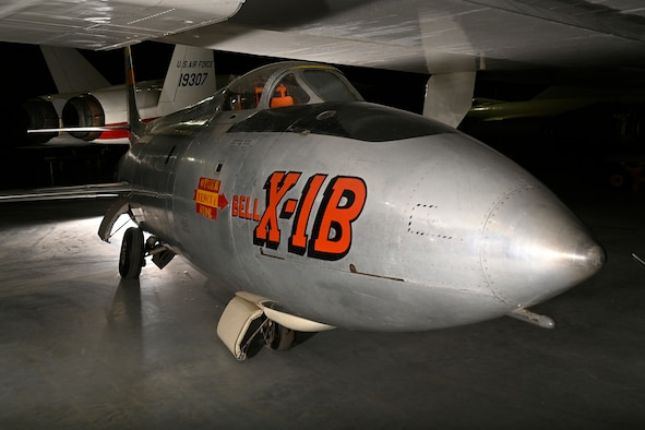 Bell X-1B on display in the National Museum of the U.S. Air Force Research and Development Gallery.
