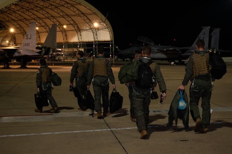 U.S. F-15E Strike Eagles arrive in Greece for Castle Forge
