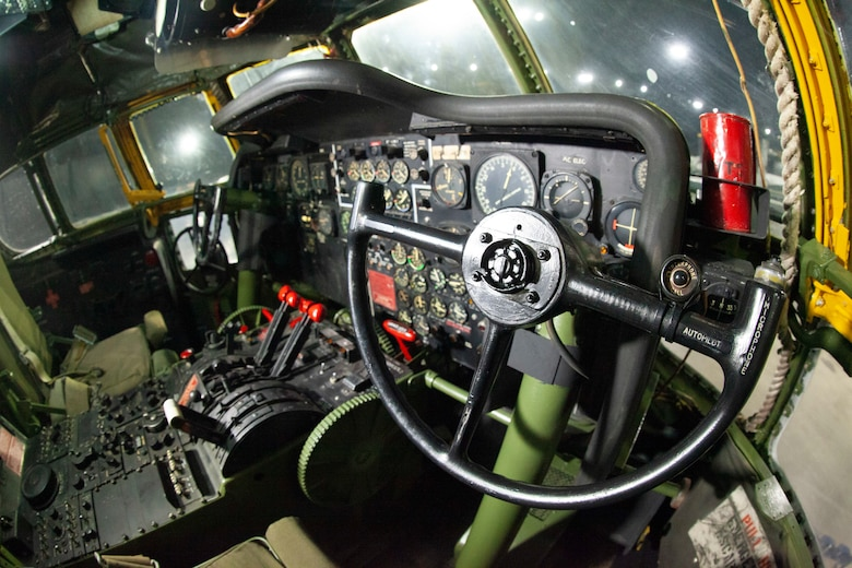 Interior view of the Boeing KC-97L Stratofreighter on display in the Cold War Gallery of the National Museum of the U.S. Air Force.