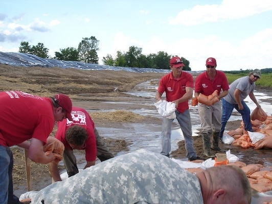 USACE Flood Area Engineers assist in supporting local flood response.