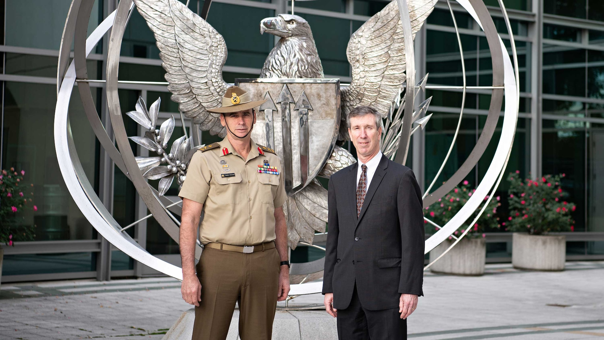 The Defense Threat Reduction Agency's Dr. Rhys Williams, Director (Acting) met with Major General Andrew Freeman AM, Head of Australian Defense Staff and Defense Attaché to the United States on October 4.