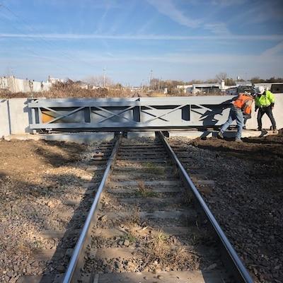 Railroad Closure in Downtown Des Moines, Iowa