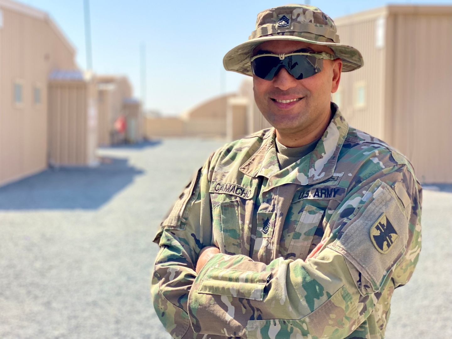 The 111th Theater Engineer Brigade is excited to recognize a Hispanic-American Soldier who serves in our ranks and is a prime example of one who embodies the DoD and Army values.   Sgt. 1st Class Glilberto Camacho is a Soldier in the 604th FEST-A, 111th Engineer Brigade who is proud of where he came from and celebrates his heritage every day.