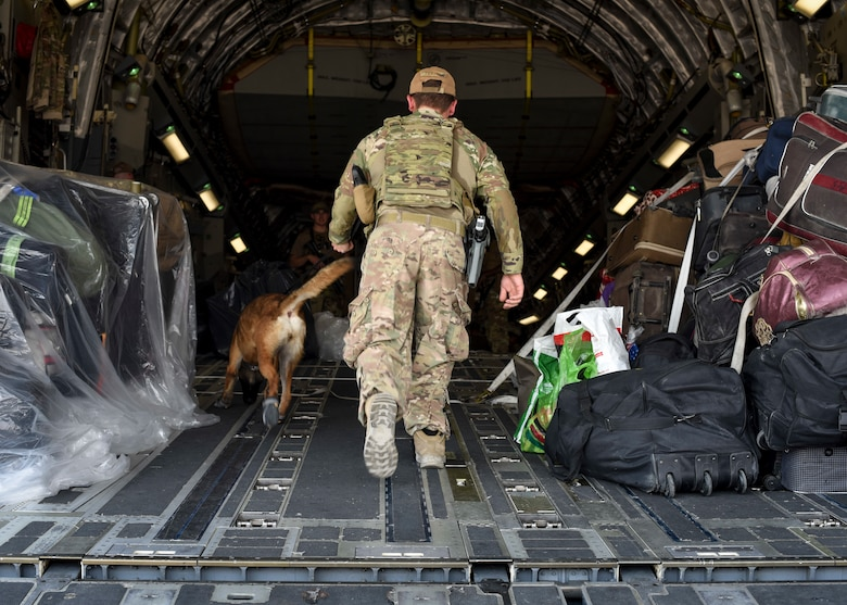 A photo of service members supporting Afghanistan evacuations