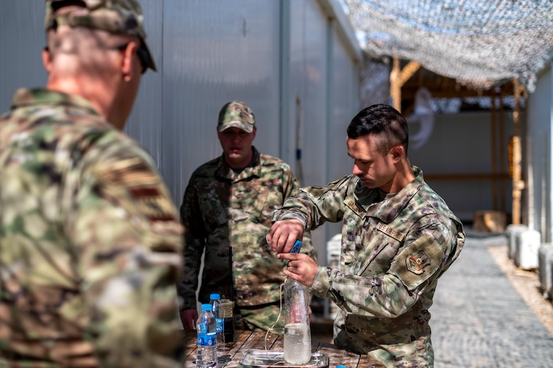 The 332nd EMDG provides medical assistance to 332nd Air Expeditionary Wing Airmen to ensure mission readiness.