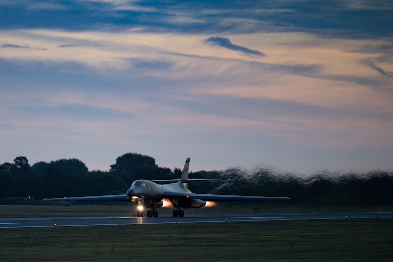 Bomber Task Force Europe:  B-1s execute Agile Combat Employment over Baltic region