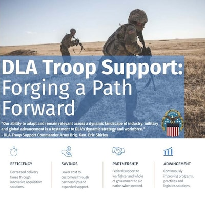 Infographic of DLA Troop Support evolution in the 21st century.