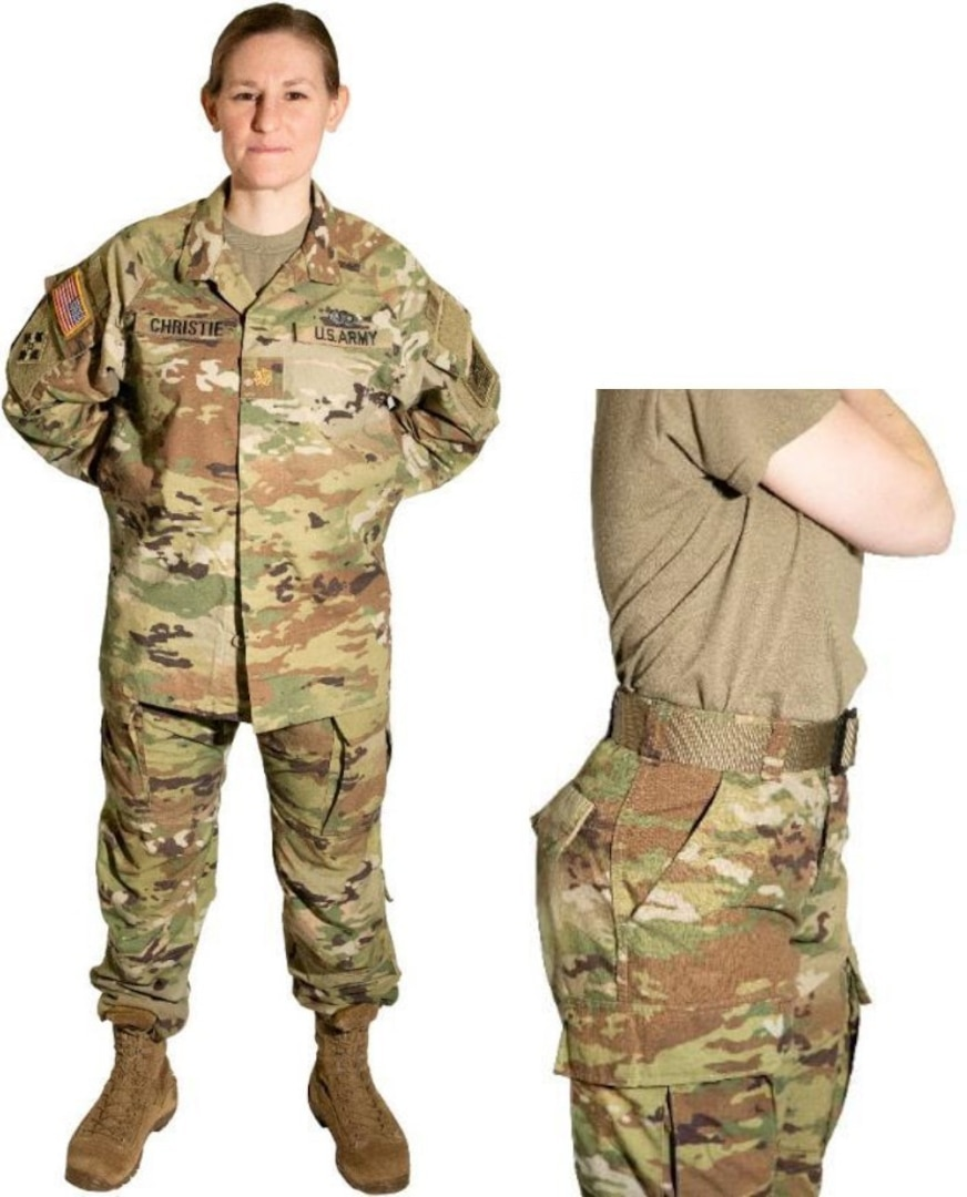 woman in combat uniform