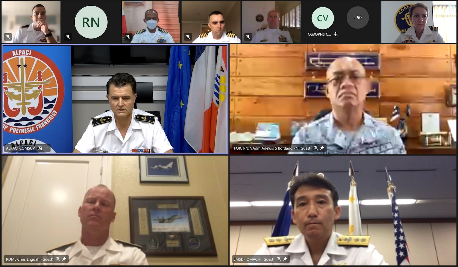 Military personnel from the U.S, Philippines, Japan and France kicked off Maritime Training Activity (MTA) Sama Sama during a virtual opening ceremony, Oct. 11.