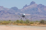 Extended range multipurpose unmanned aircraft system returns from functional testing during Project Convergence 20, at Yuma Proving Ground, Arizona, September 15, 2020