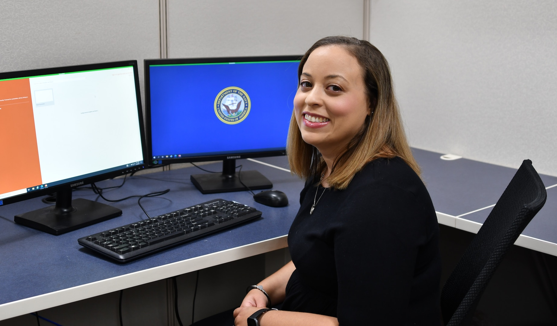 IMAGE: Ashley Wilson, a Naval Surface Warfare Center Dahlgren Division systems engineer for the Battle Management System program, received the Women of Color magazine Technology Rising Star Award.