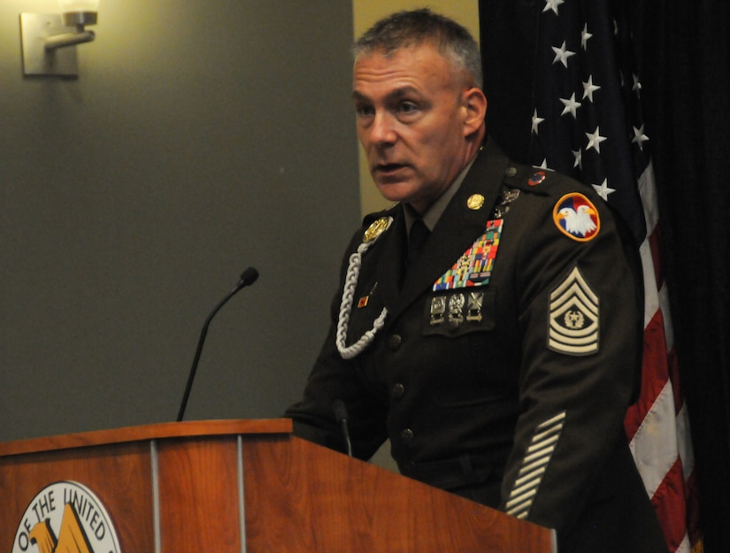 Army Reserve's top enlisted Soldier challenges leaders to think 'upstream'